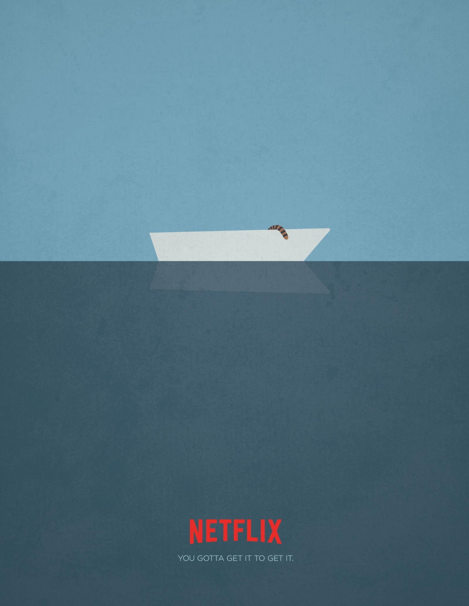 """Netflix: """"Life of Pi"""" Print Ad  by DDB Vancouver Canada, Anonymous Content, Steam"""