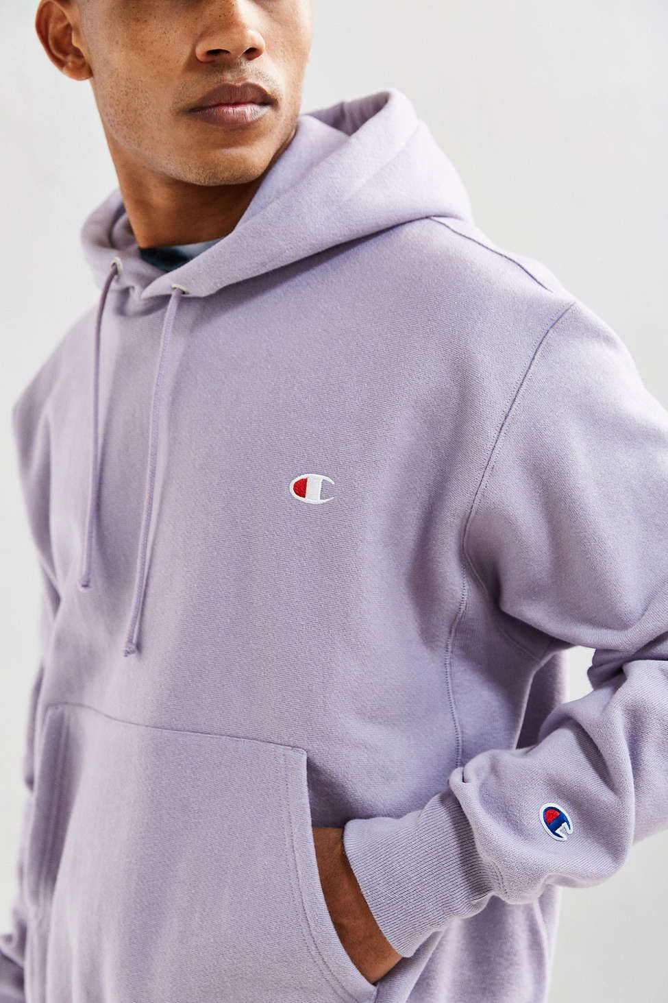 Champion Reverse Weave HOODED - Jersey con capucha - lilac wnd3pPvhU