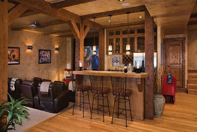 Rustic Bar Decor With Old Fashion Designs Best Basement Bar