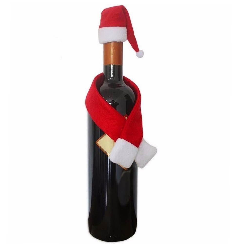 Christmas Scarf Hat Bottle Holder Christmas Wine Bottles Wine Bottle Covers Christmas Wine Bottle Covers