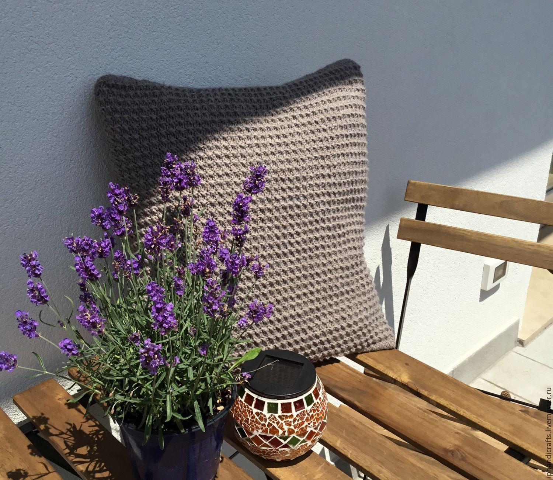 Купить Декоративные подушки ручной работы - серый, тёмно-зелёный, подушка декоративная, подушка на диван