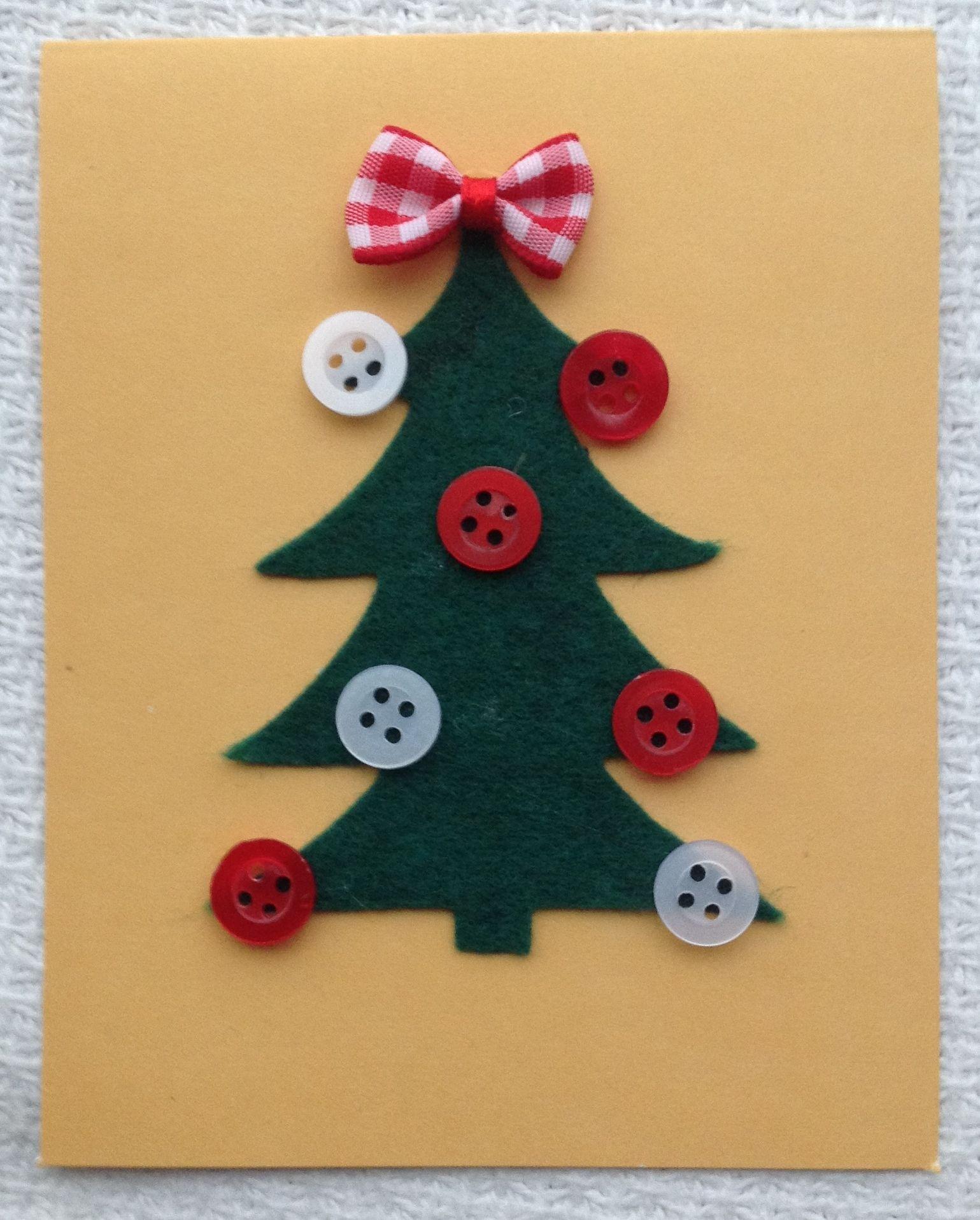 Tarjeta navide a f cil de hacer manualidades navide as - Como hacer tarjetas de navidad faciles ...