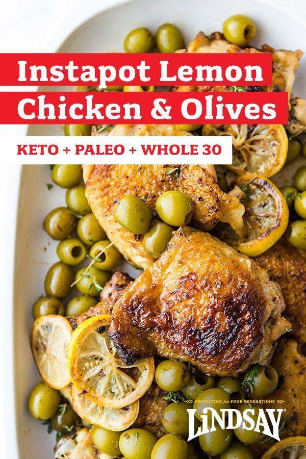Instapot Zitronenhähnchenschenkel mit Oliven   - Easy Weeknight Dinners -