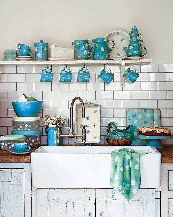 Cocinas vintage con muebles restaurados rincones - Muebles restaurados vintage ...