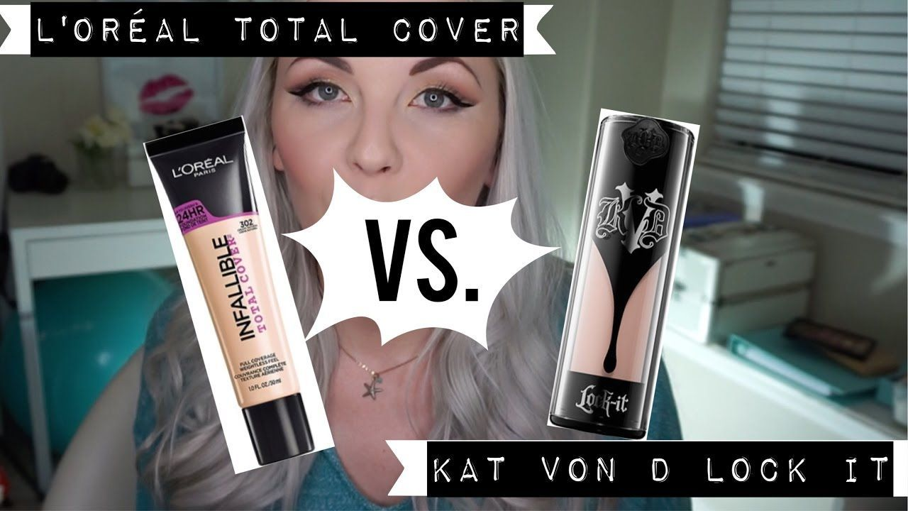 Loreal Infallible Total Cover Foundation Dupe for Kat Von