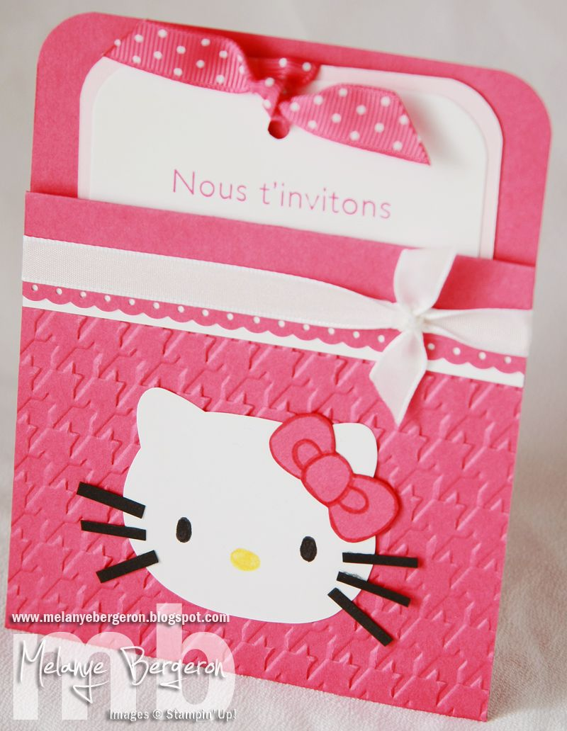 Scrapbook ideas hello kitty - Hello Kitty Scarupbook Scrapbooking Estampage Et Cie Invitation D Anniversaire Hello Kitty