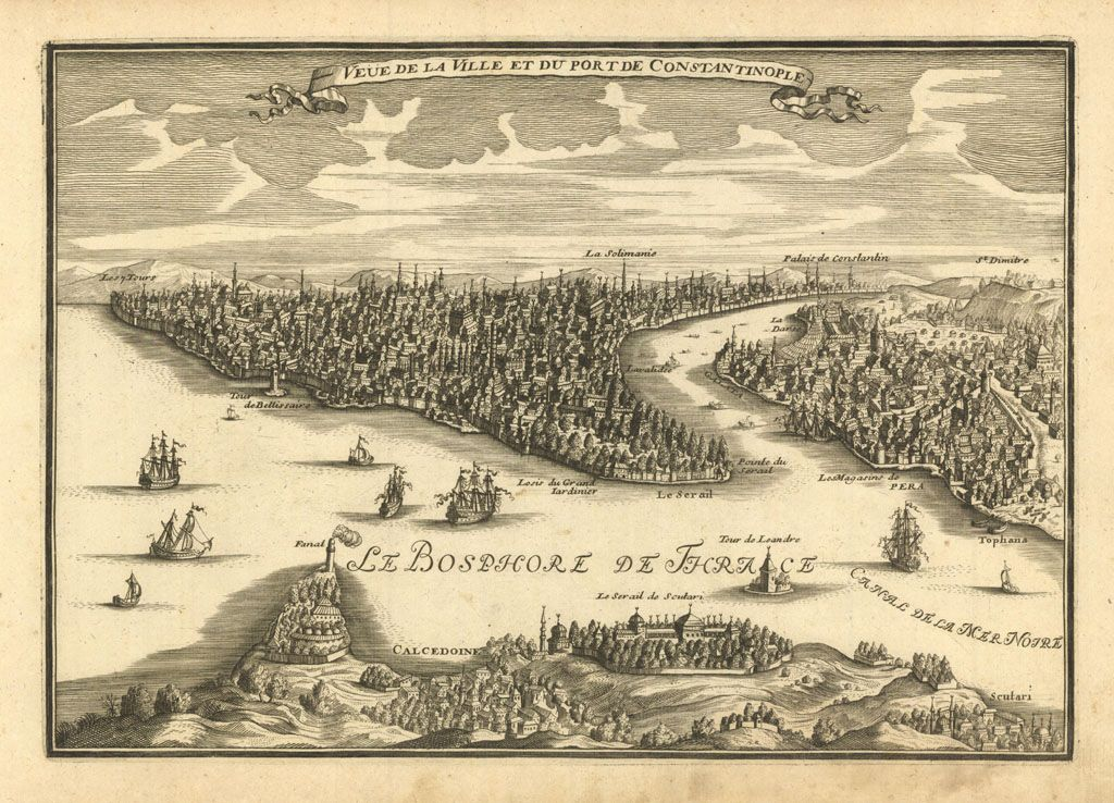 De Fer Nicolas edit. Costantinopoli - Istanbul - 1705