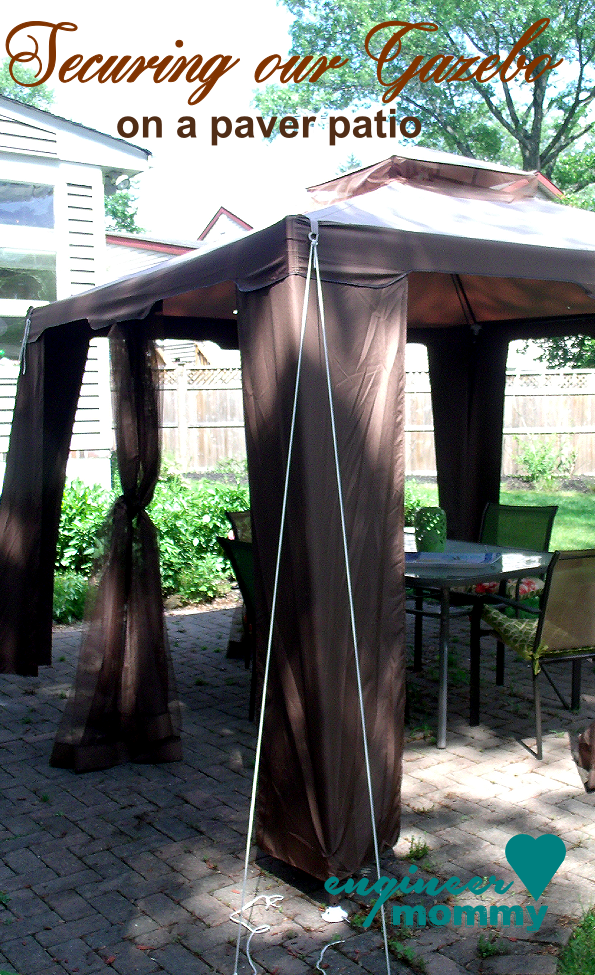 Tips To Secure A Gazebo Canopy On A Paver Patio Backyard