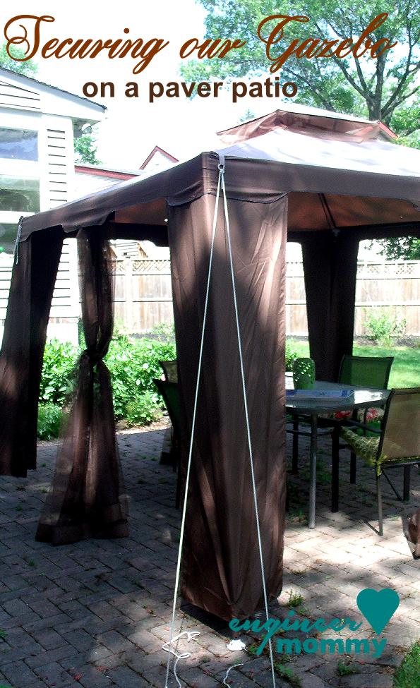 Tips To Secure A Gazebo Canopy On A Paver Patio Backyard