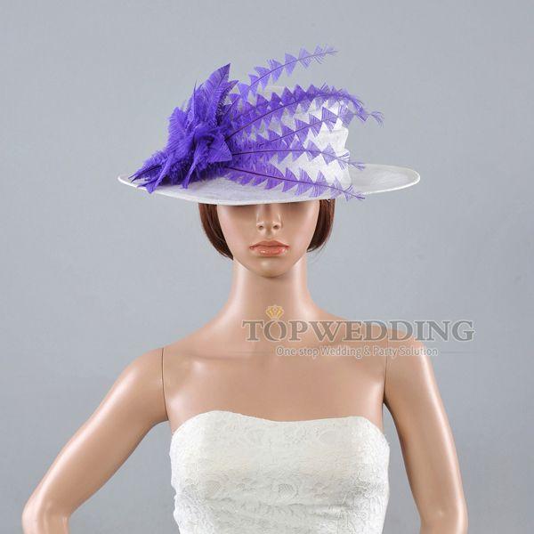 Elegant-Free-Shipping-Purple-Flower-Wedding-Dress-Church-Hat-Bridal-Kentucky-Derby-Hats-for-Wedding-Horse.jpg (600×600)