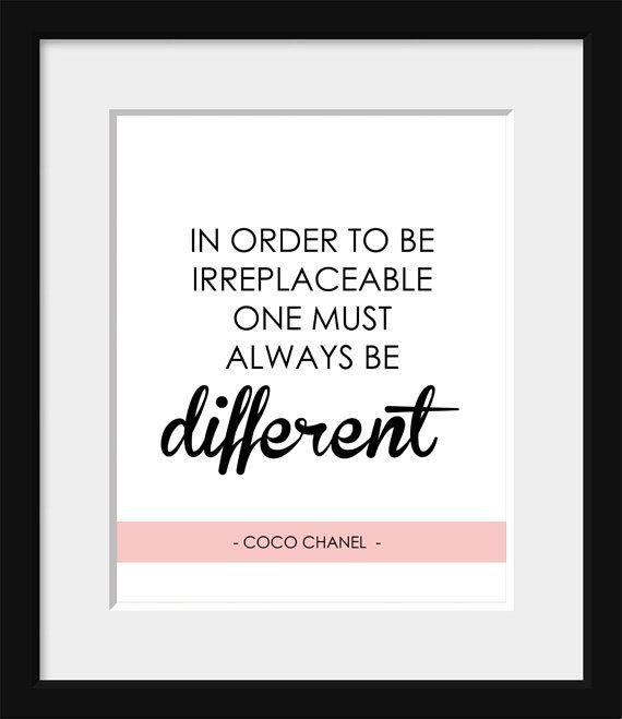 inspirational quote coco chanel french print home decor