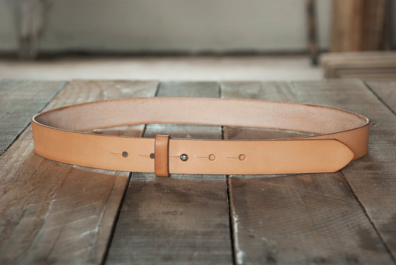 1.25 Inch Stud Button Leather Belt – Handcrafted in the U.S.A.