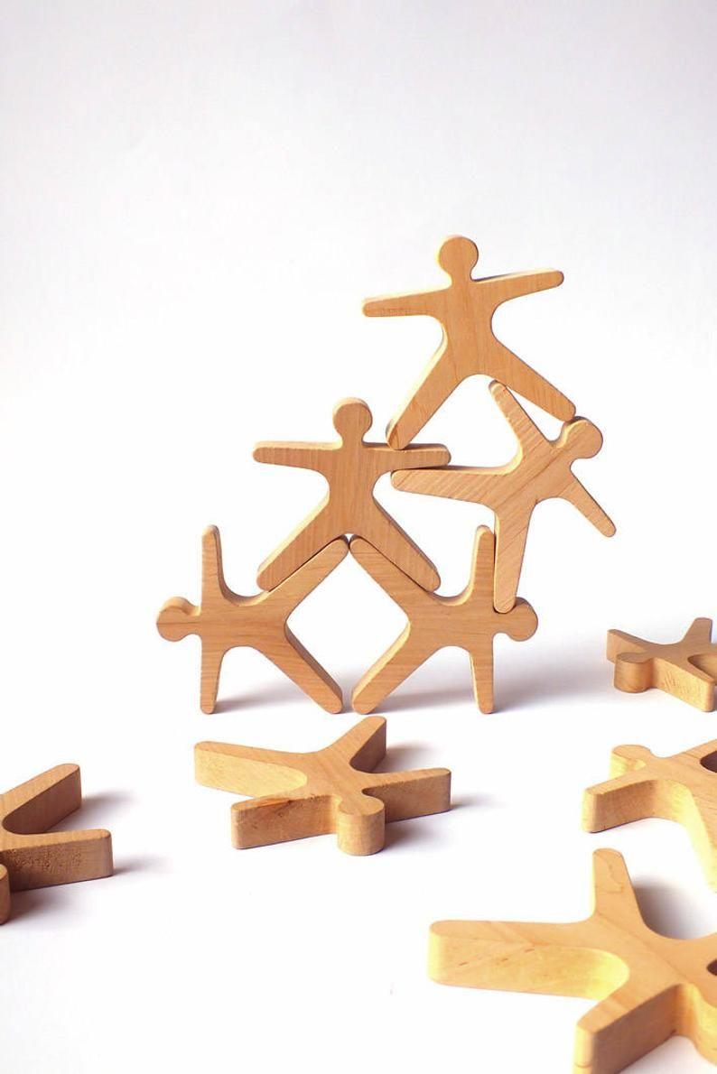 Jouet en bois éducatif dempilage équilibrage bâtiment acrobates – jeu dempilage créatif pour les enfants les tout-petits enfants