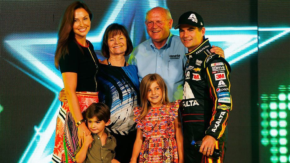 Jeff Gordon #24,2015 All Star Race.This is a beautiful picture of Jeff Gordon and his family. Congratulations on an outstanding carrier Jeff Gordon!