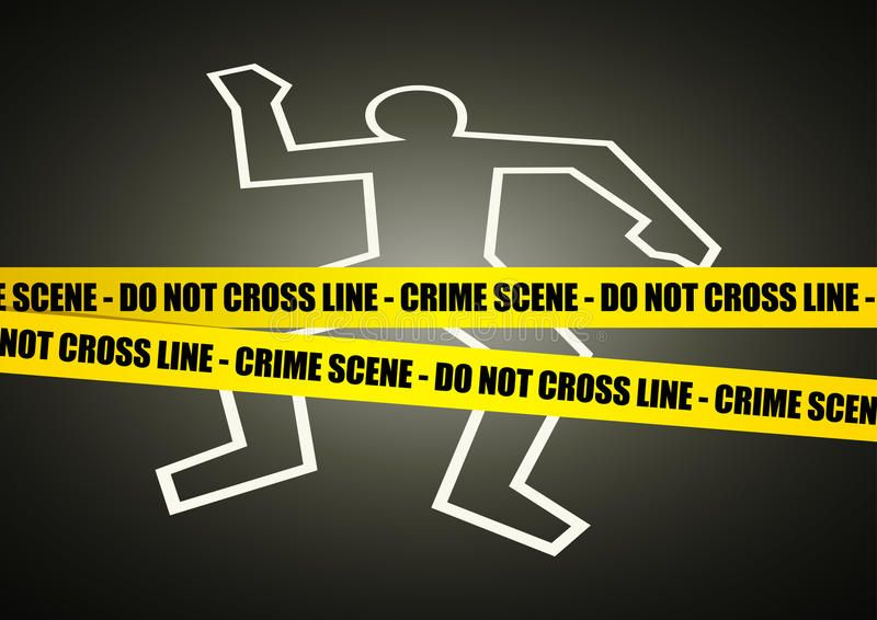 Crime Scene Illustration of a police line on crime scene