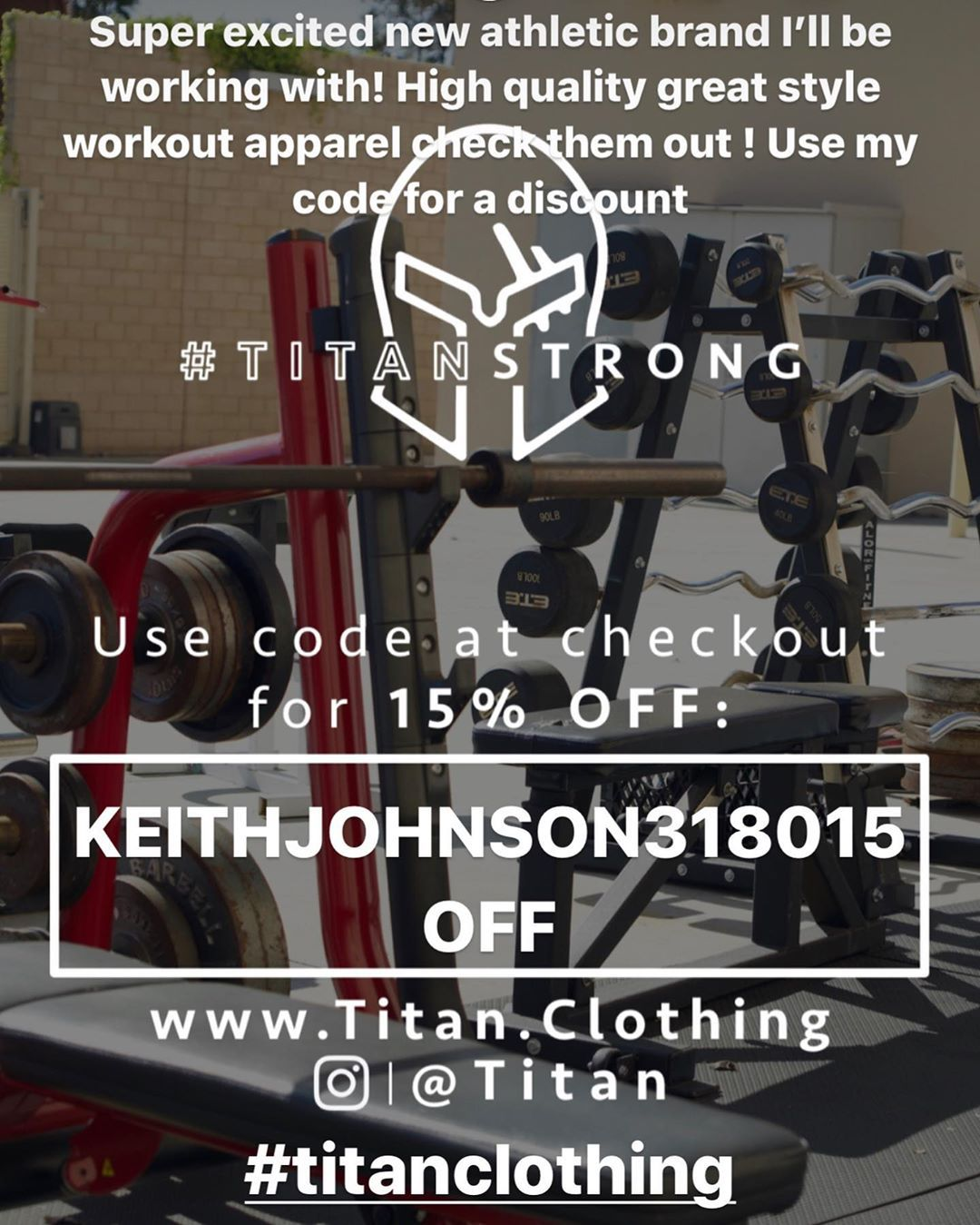 Excited to work  with @titan  Check them out for sleek great quality #workout  #apparel...