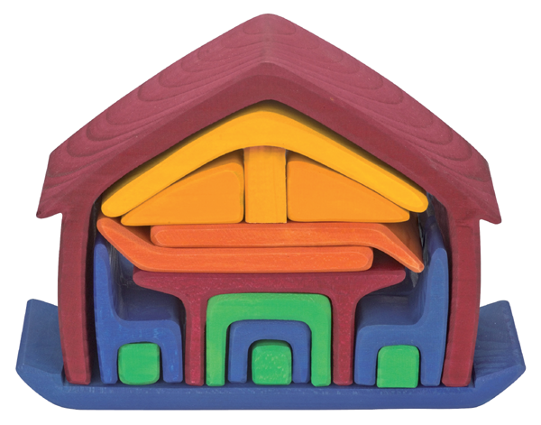 Gluckskafer All in One House Red Doll house, Baby toy