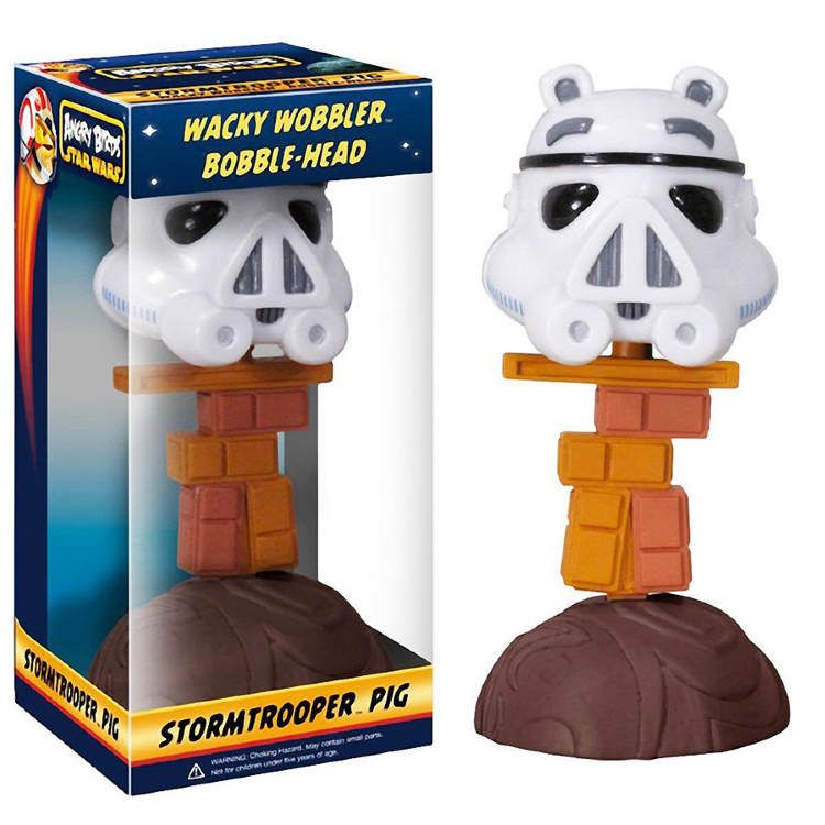 "FUNKO IN BOX 7/"" STAR WARS// WACKY WOBBLER BOBBLE HEAD STORMTROOPER 18 CM"