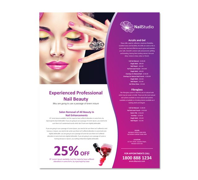 Nail Beauty Salon Flyer Template Http://www.dlayouts.com/template/654/nail  Beauty Salon Flyer Template