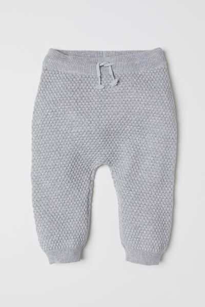 e6da91825938 H M Textured-knit Pants - Gray