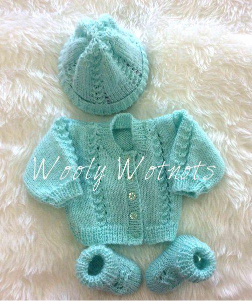 Darren Knitting Pattern~DK & 4ply~Premature to 3 months   pletení ...
