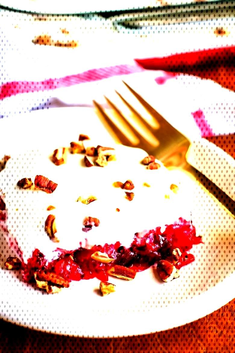Layered Cranberry Salad w/ Cream Cheese Topping – Unsophisticook Cranberry Salad Recipe -- To be