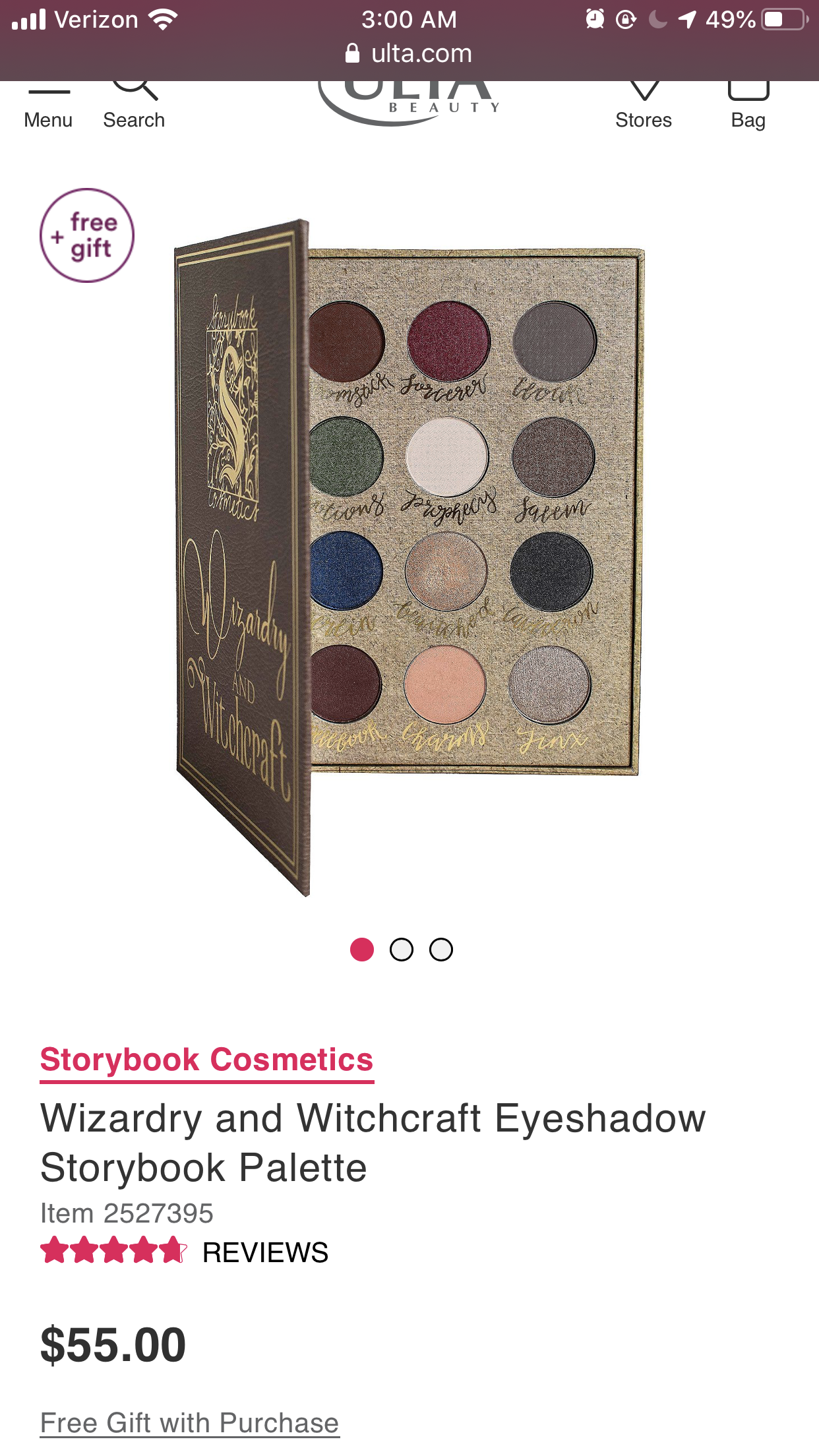 Storybook Cosmetics Wizardry And Witchcraft Eyeshadow Storybook Palette Ulta Beauty Storybook Cosmetics Eyeshadow Beauty Gift