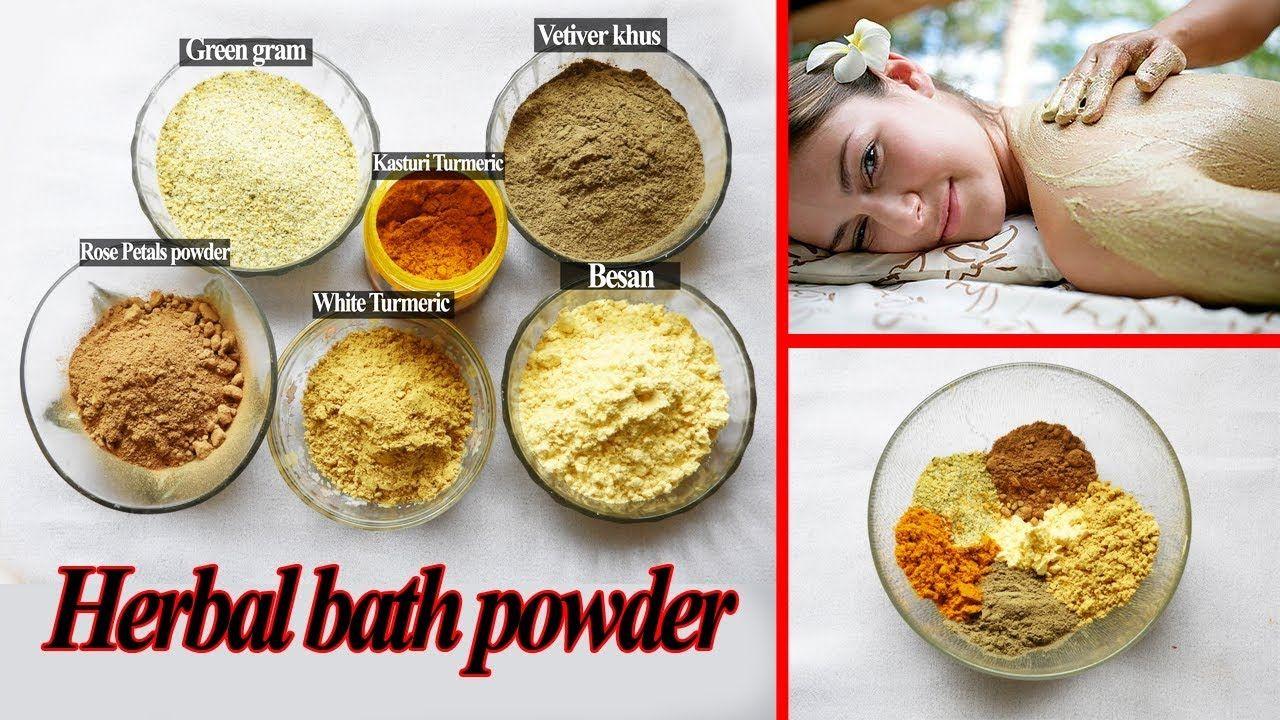 how to use herbal bath powder