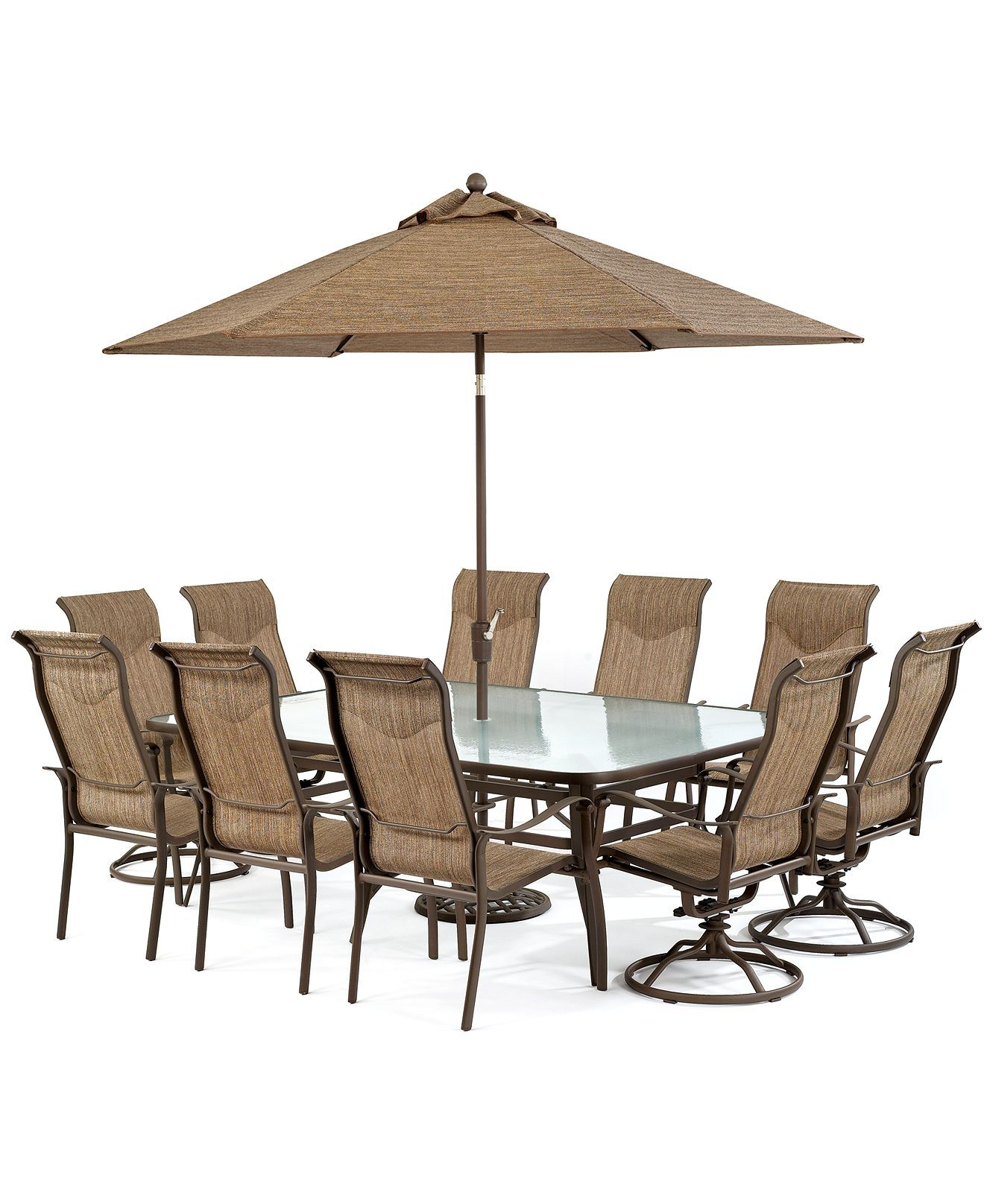 Exclusive Oasis Outdoor Aluminum 11 Pc Dining Set 84 X