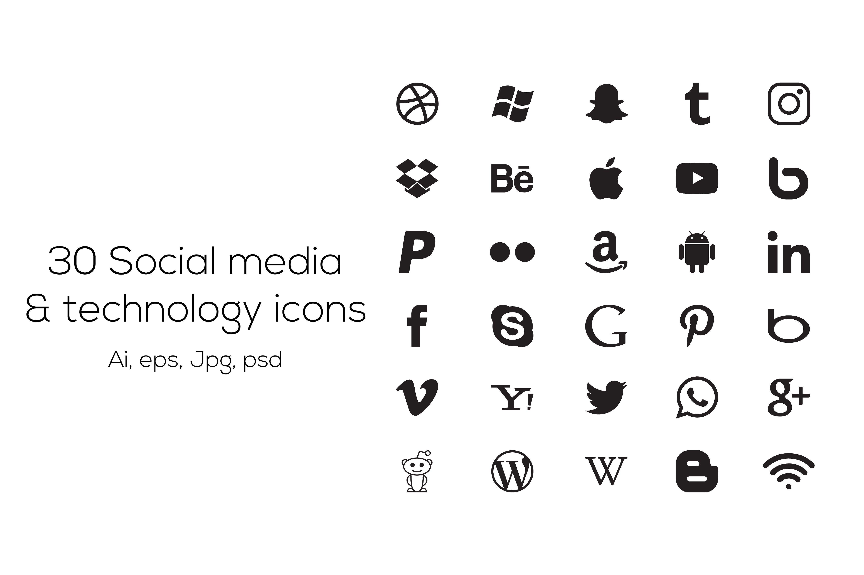 30 Social media icons appleyoutubebeboptumblr Social