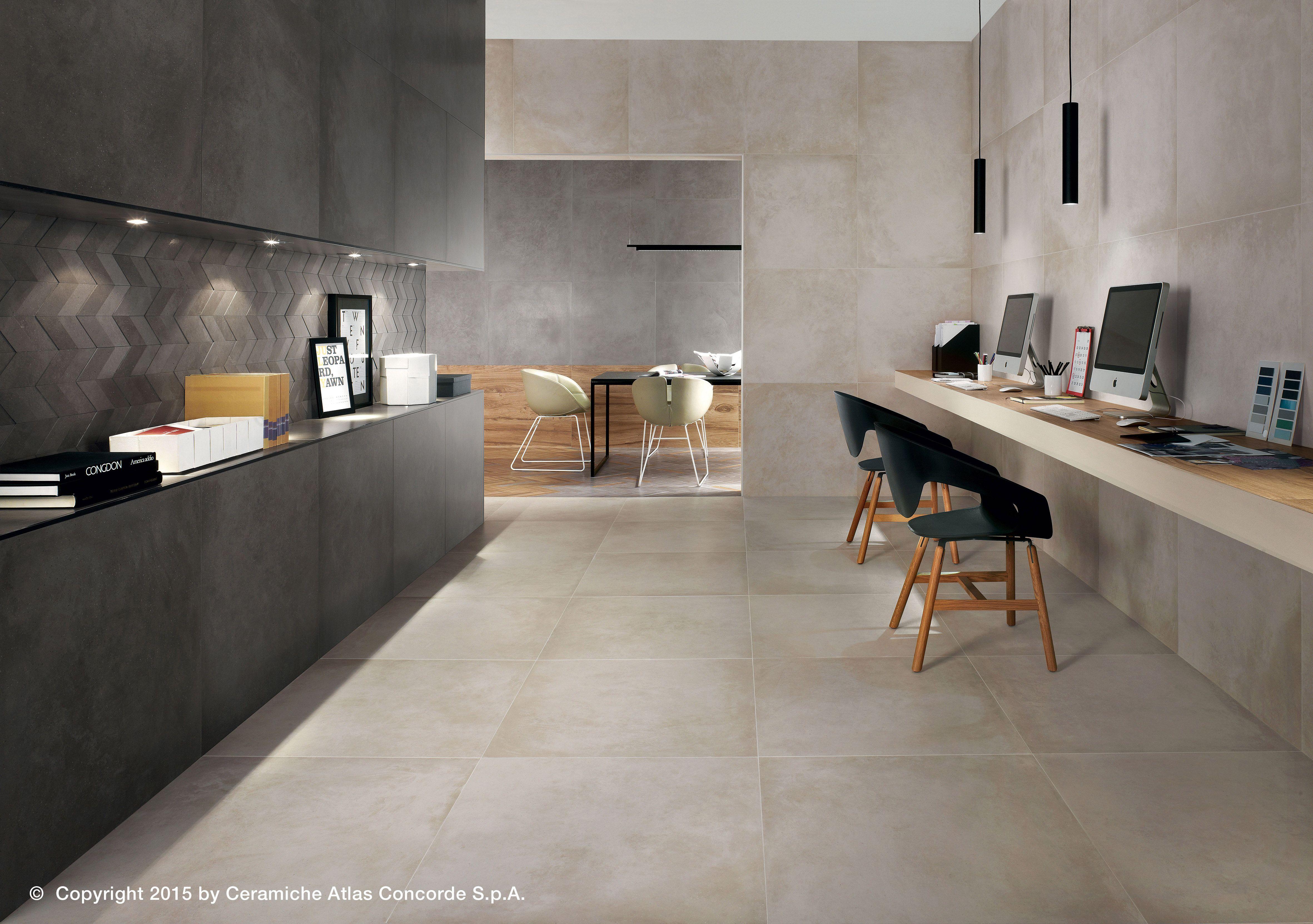 Pavimento in gres porcellanato effetto cemento dwell floor design