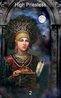 High Priestess, Infinite Visions Tarot   TAROT 2 The High