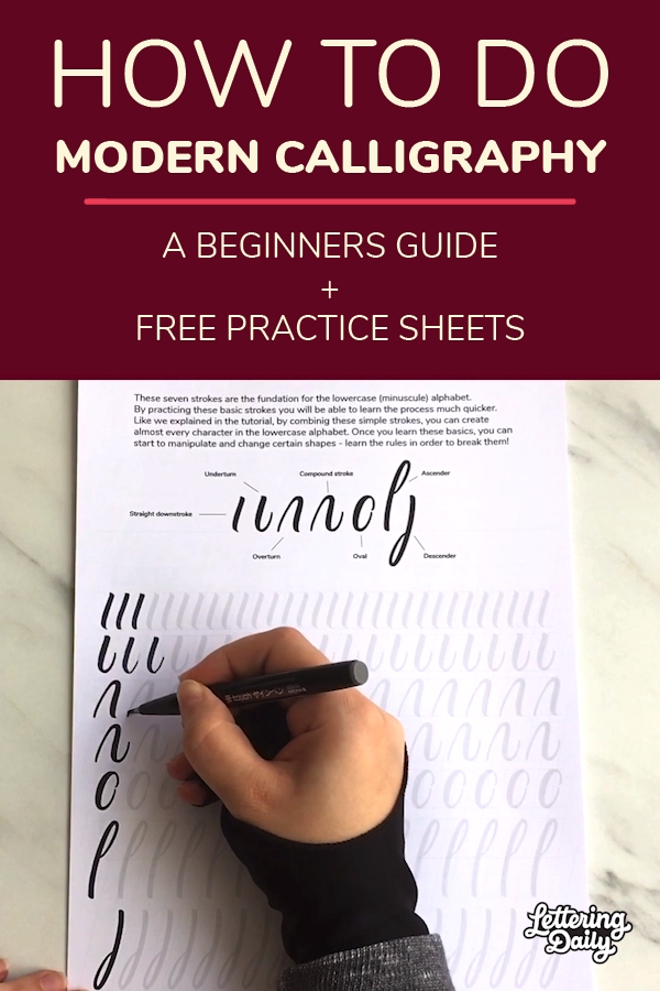 In this tutorial, you will learn how to get started with modern calligraphy. I'll be covering the needed tools, basic calligraphy rules and strokes, and you will also be able to download free calligraphy practice sheets. Modern calligraphy is a fun and relaxing hobby that anyone can do, and this tutorial will help you get started!