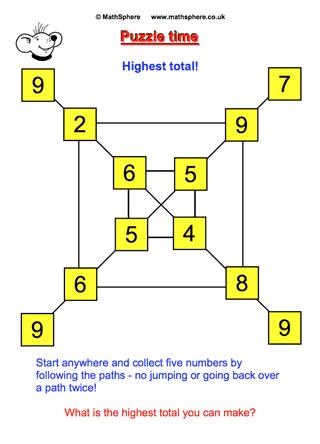 Highest Total | Educational - Maths | Pinterest | Math, Free math ...