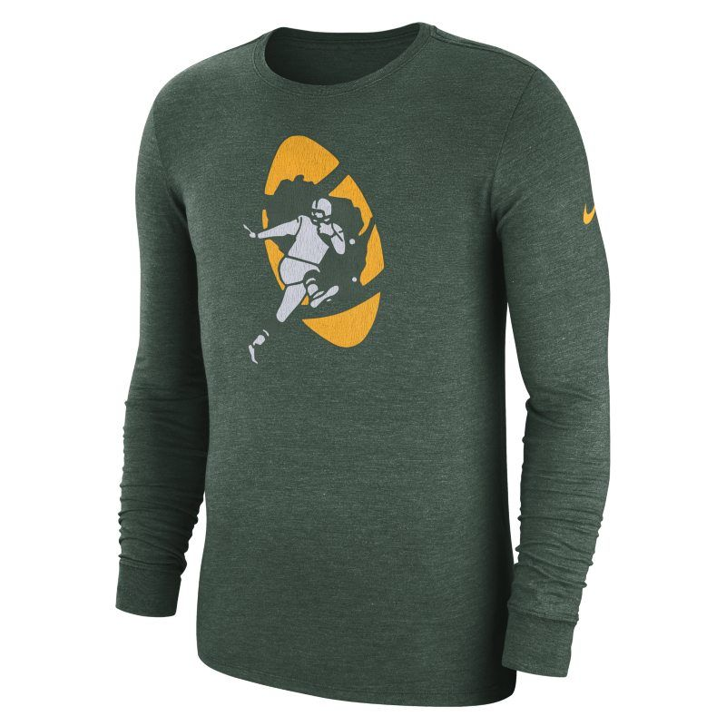 6dce2be00 Nike (NFL Packers) Men s Tri-Blend Long-Sleeve T-Shirt - Green ...