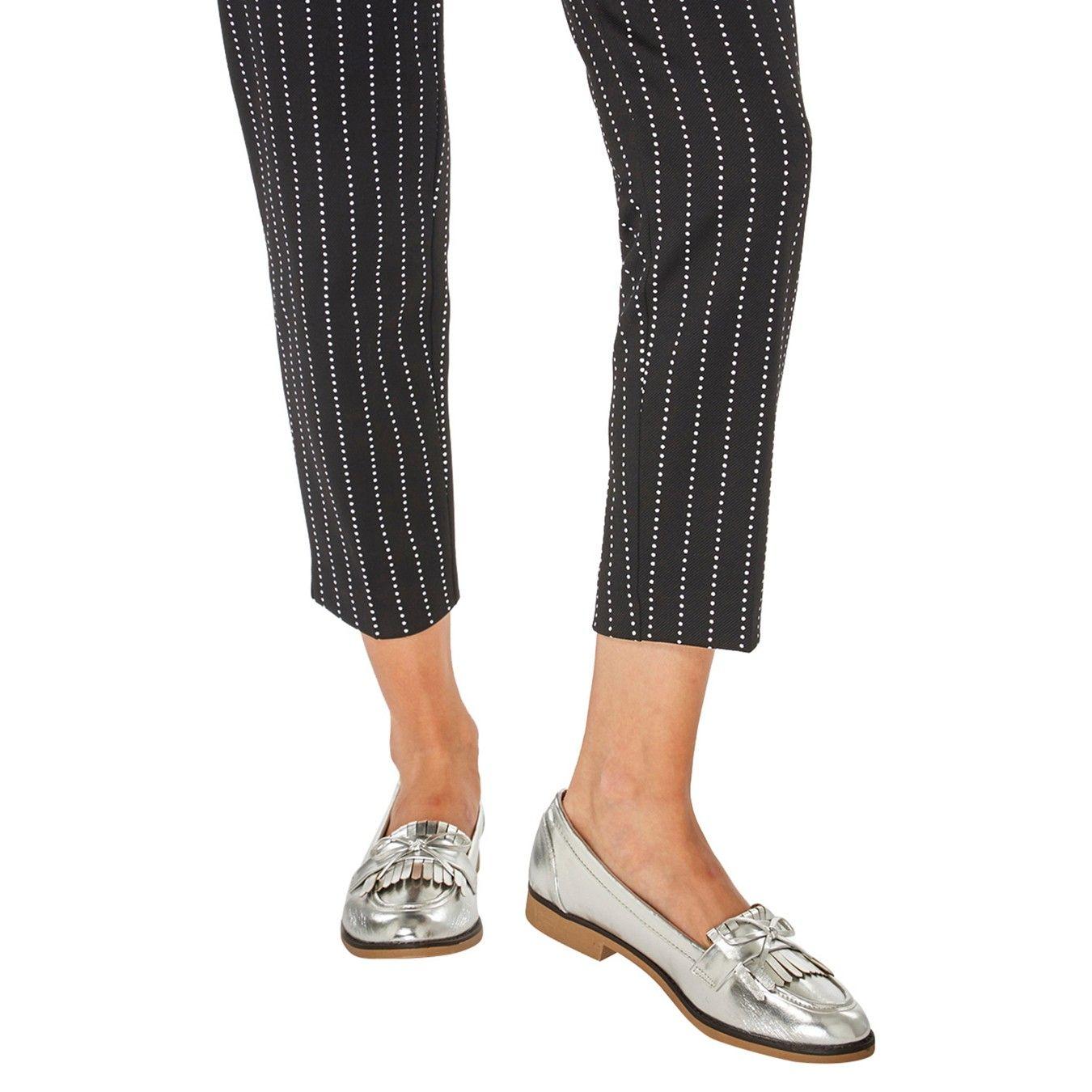 216c7c3efa1 Wide fit silver lotta loafers