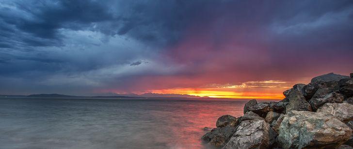 Ultrawide (3440x1440, 2560x1080) Beach sunset wallpaper
