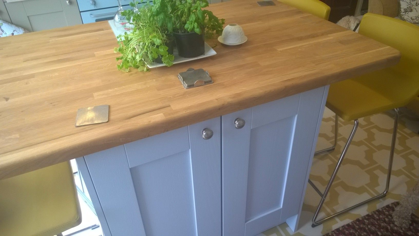 Contrasting Kitchen Island In Our Albany Solid Ash Style Painted Amazing Ash Kitchen Cabinets 2018