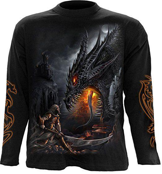 Spiral Dragon Slayer Longsleeve schwarz M