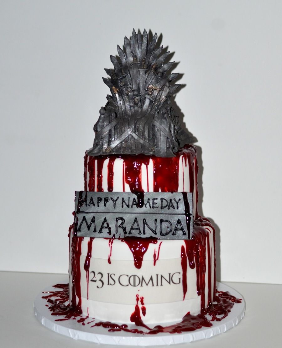 Game of thrones birthday cake spooky cakes and party for Game of thrones birthday party