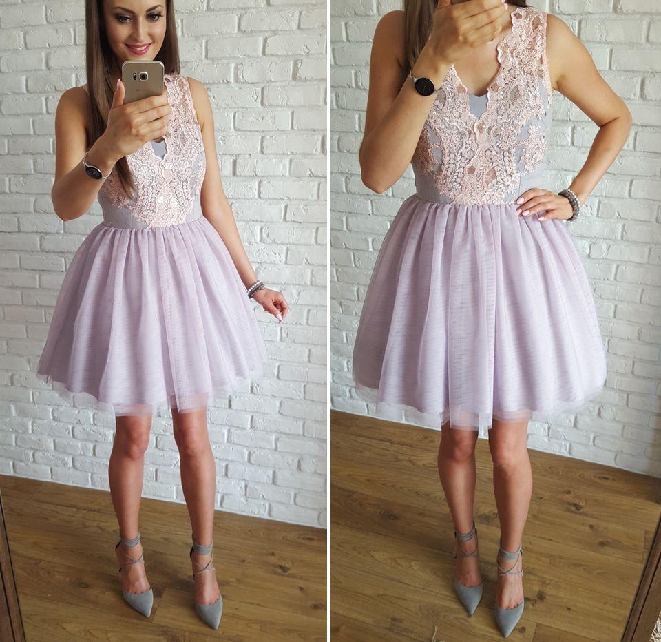 e411fe52ea52ab Tulle pastel dress / Tiulowa pudrowo-szara sukienka na wesele 349 zł  www.illuminate.pl