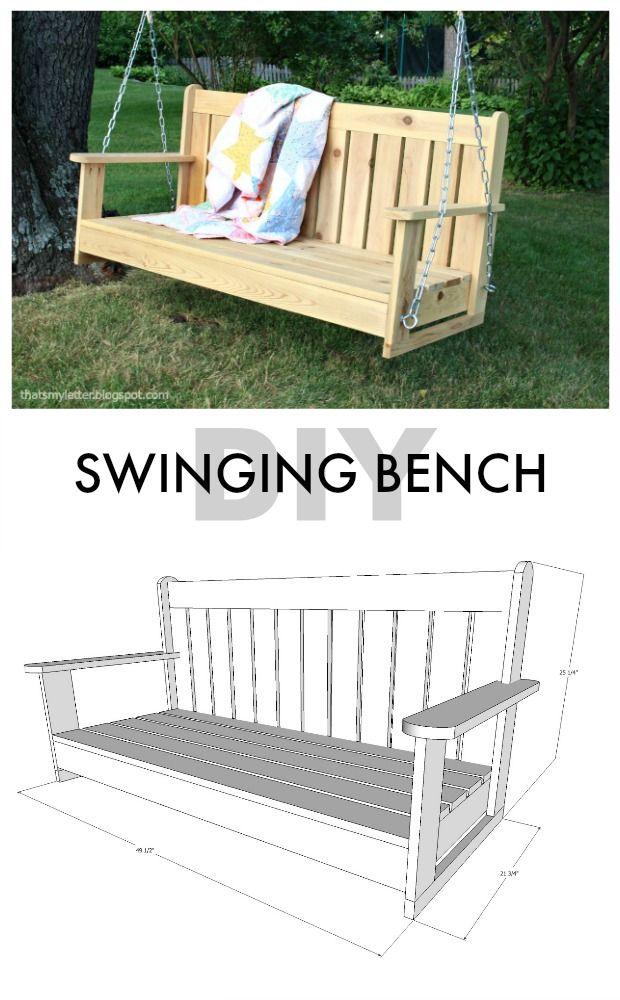 diy swinging bench free plans scrapworklove