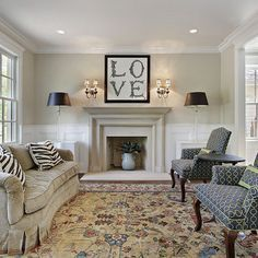 Lovely Living Room Wainscoting   Yahoo Image Search Results