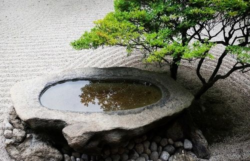 "Zen garden. ""Mediation as absolute death, living by dying absolutely""--Nishida Kitarō  Sam says holy sh*t I need this. Wise words."