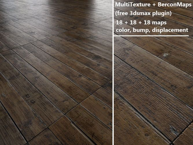 floorboards Parquet Antique oak MultiTexture 3D