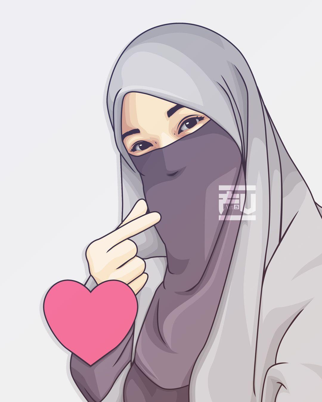 Kartun Muslimah Foto Profil Wa Couple Terpisah Pacar Novocom Top