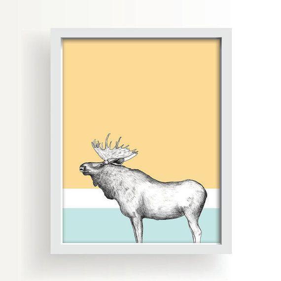 Modern Moose Wall Art Etsy Moose Wall Art Etsy Wall Art Art