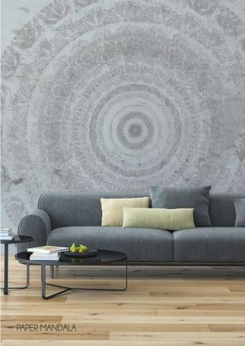 This Lovely Paper Mandala Wallpaper Mural By Behangfabriek Is Specially Designed For Those Who Dare To Be Different A Stunning Wall Covering In Several