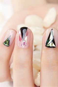 Glass Nail Art Is Still the Latest Korean Beauty Craze You Need to Try #koreannailart Glass Nail Art Is Still the Latest Korean Beauty Craze You Need to Try #holiday #nailart #holidaynailart #koreannailart