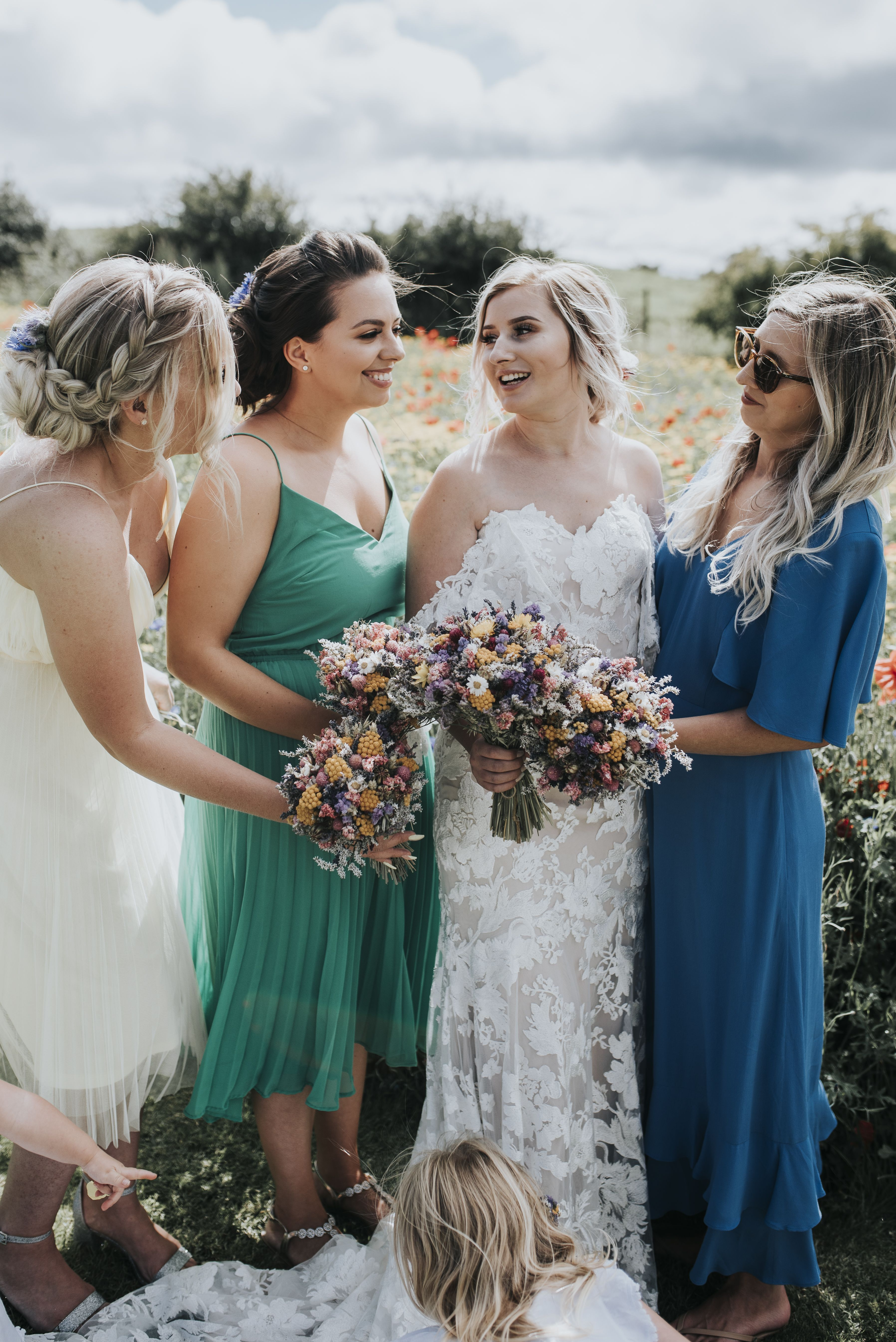 Mix and match bridesmaids   Bridal hair dressing, Mix n match ...